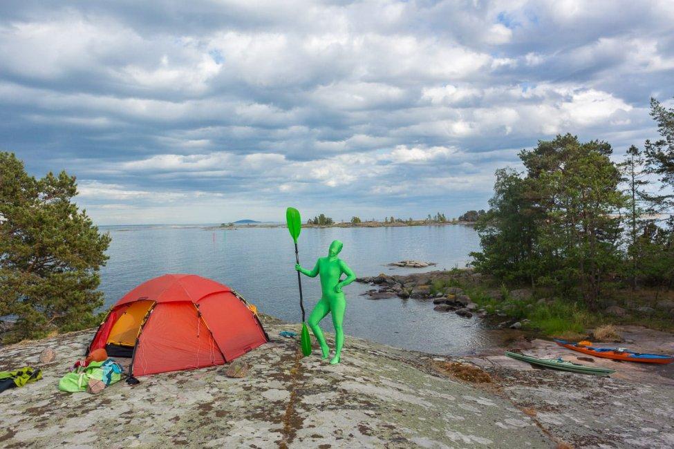 Grön filur på Bredskär/Björkskär