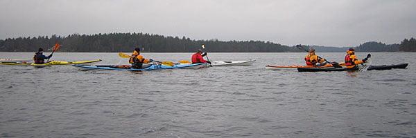 Delar av gruppen på väg mot Örö