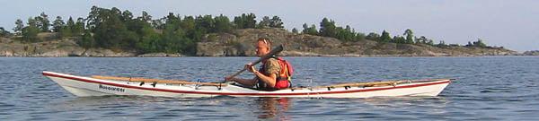 Erik på väg mot Små Viskären