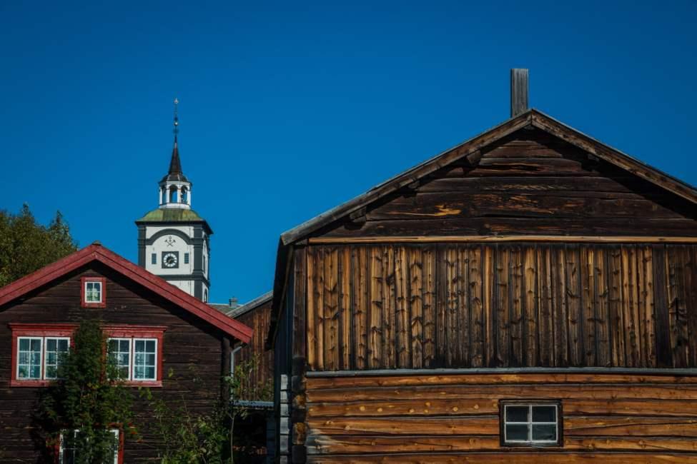 Röros - mysig by med finfina trähus, kyrka och slagghögar