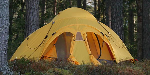 Jag & Pia hade med vårt nya tält; verkar funka görsketabra. TNF VE-25.
