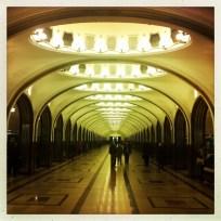 Moskau, Metro-Station Majakowskaja. Oktober 2014