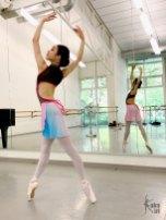 Ballettrock rosa hellblau ombré kakakiri handgenäht