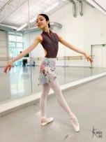 Ballett-Wickelrock Sommerwiese kakakiri handgenäht