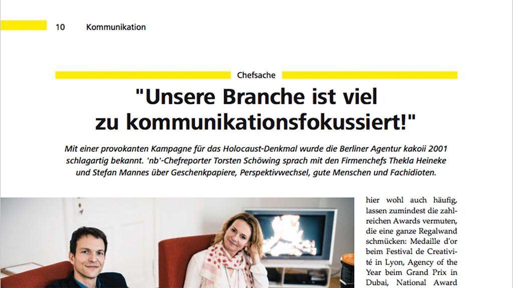 Interview mit kakoii im New Business Magazin