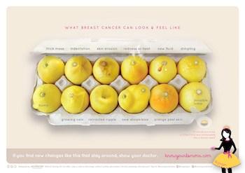 Die Zeichen von Brustkrebs, erklärt mit Zitronen