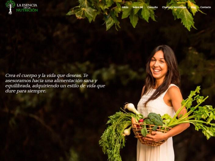 Página web La Esencia de la Nutrición