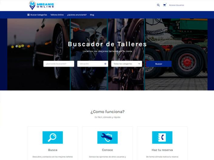 Página web Mecanic Online