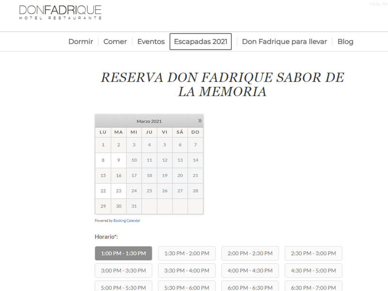 Reservas Don Fadrique