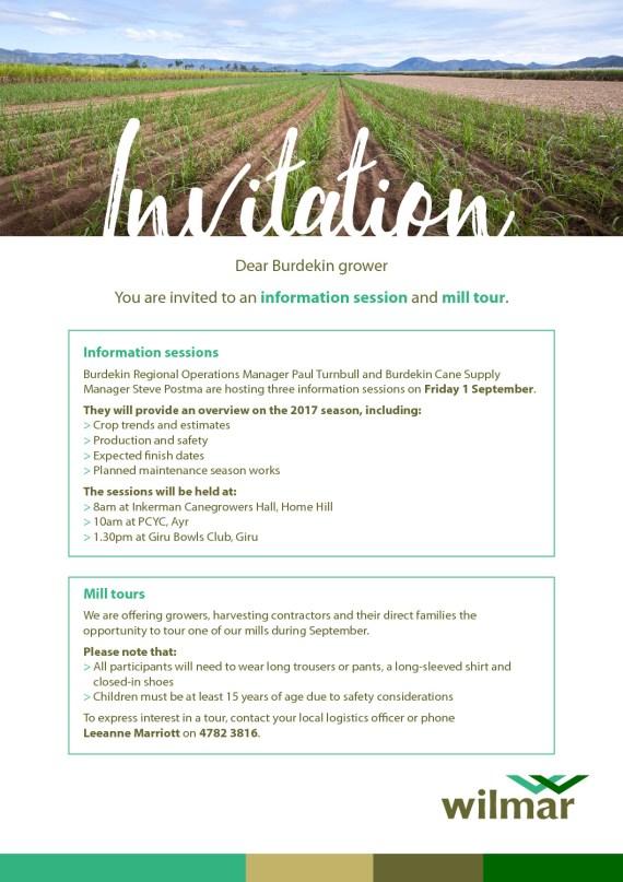 thumbnail of Wilmar Burdekin Grower Invite – Sept17