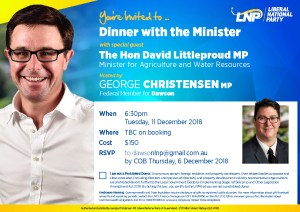 thumbnail of Dinner with Minister Littleproud