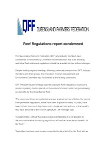 thumbnail of QFF – Reef Regulations report condemned