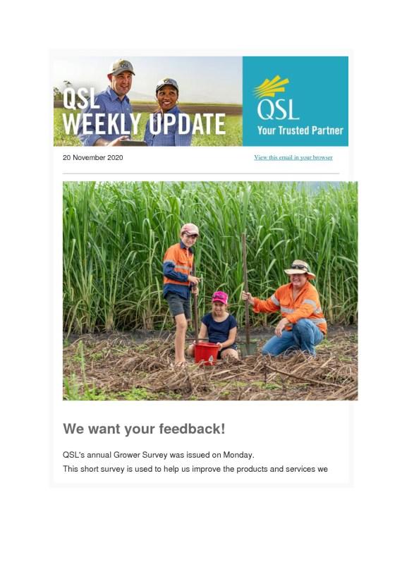 thumbnail of QSL Weekly Update – 20 November 2020