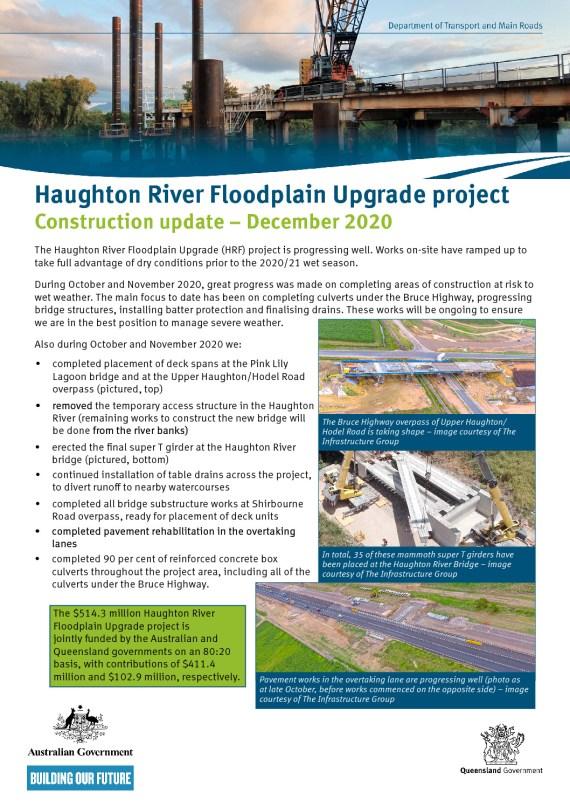 thumbnail of Haughton River Floodplain Upgrade project_Dec 2020 construction update