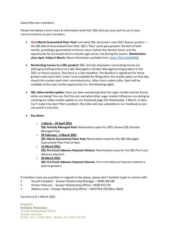 thumbnail of QSL Information Brief – 2.03.21