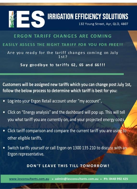 thumbnail of Ergon Tariff change – 1st July 2021
