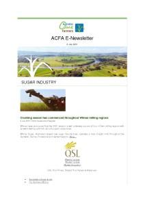 thumbnail of ACFA Enewsletter – 9th July 2021