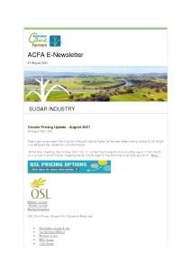 thumbnail of ACFA E-Newsletter – 27th August 2021