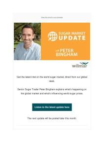 thumbnail of Wilmar Sugar Market Update – Peter Bingham