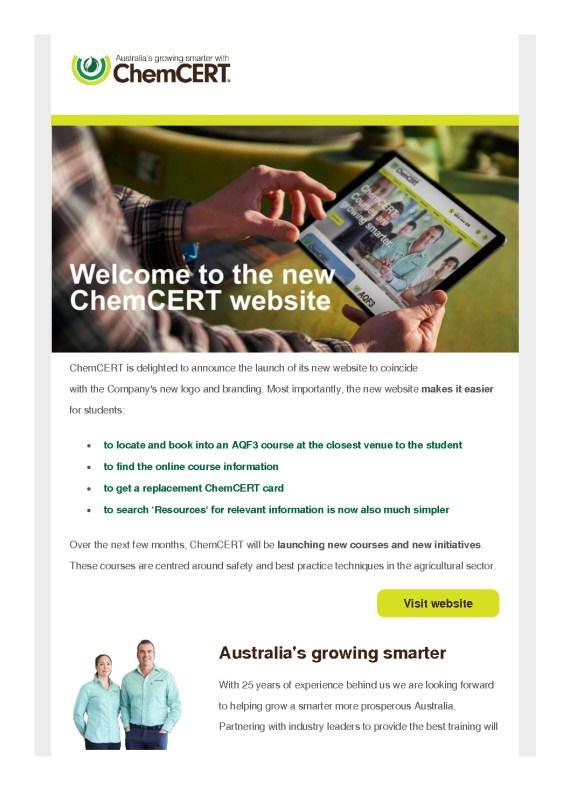 thumbnail of ChemCERT is delighted