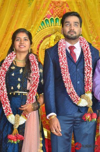Actor Vasu Vikrams Daughter Sandhiya Wedding Reception (22)