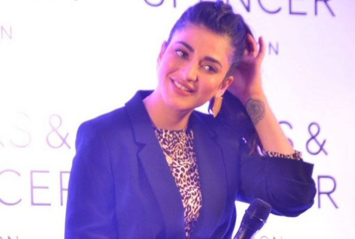 Actress Shruti Haasan at the Marks & Spencer Store Launch