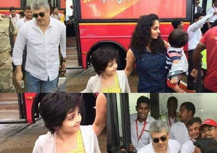 Thala Ajith in Bus Travel