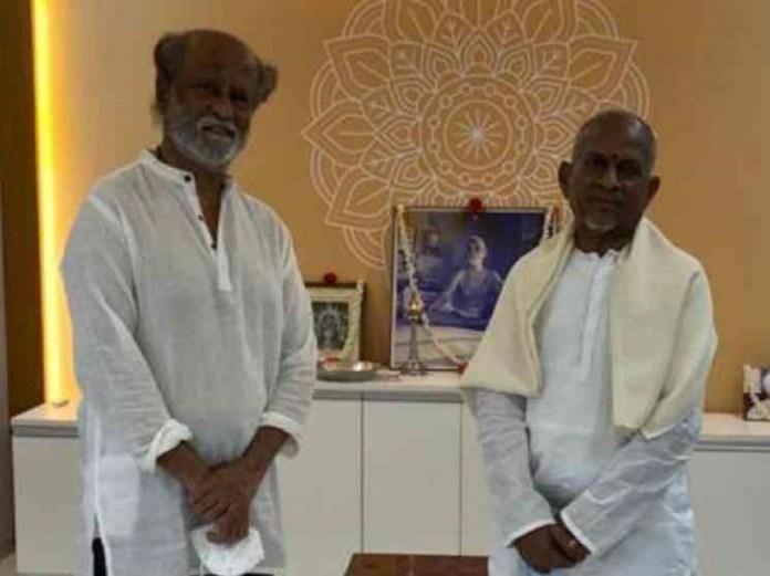 Rajinikanth visits Ilaiyaraaja's new recording studio