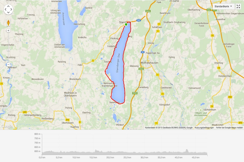 Starnberger See Route