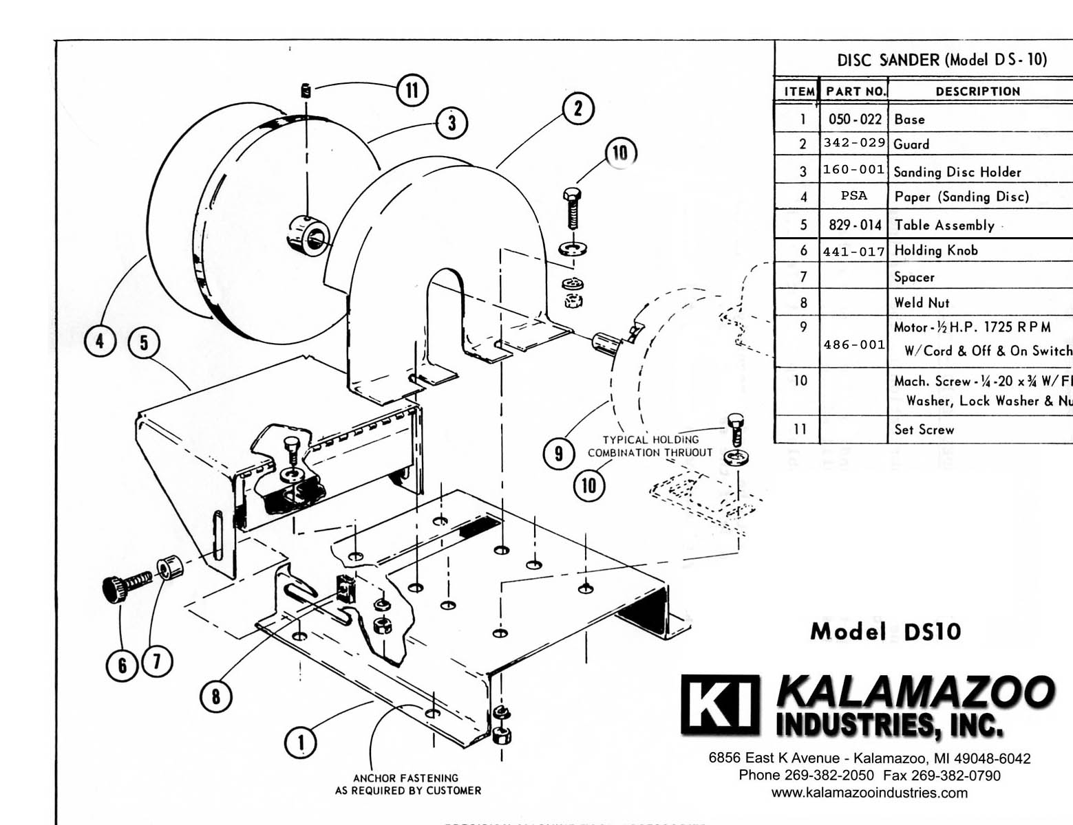 Ds10 10 Inch Heavy Duty Industrial Multi Use Disc Sander