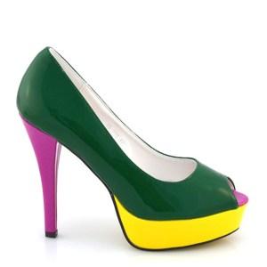 reducere Pantofi dama Nichita verzi, cel mai mic pret