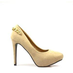 reducere Pantofi dama khaki Blaxy, cel mai mic pret