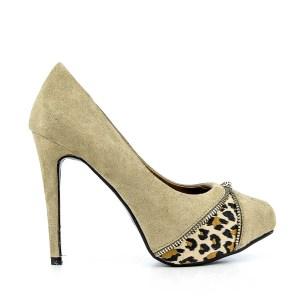 reducere Pantofi dama Luminita khaki, cel mai mic pret