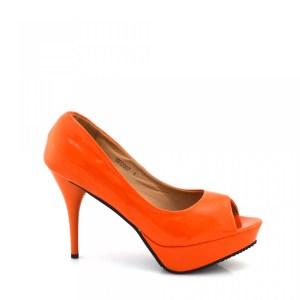 reducere Pantofi dama Mimi portocalii, cel mai mic pret
