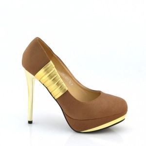 reducere Pantofi dama khaki cu toc inalt, cel mai mic pret