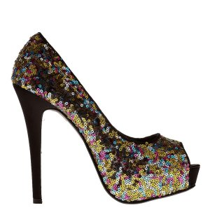 reducere Pantofi dama Katia aurii, cel mai mic pret