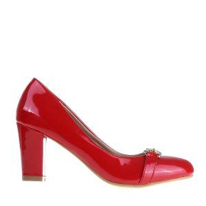 reducere Pantofi dama Denisia rosii, cel mai mic pret