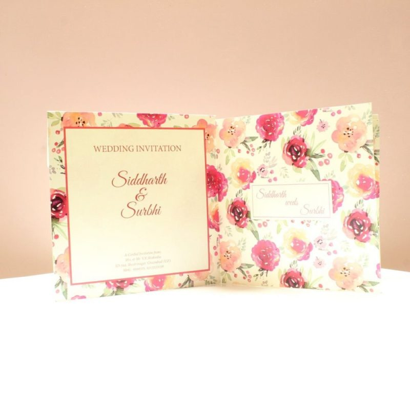 KL2046S1L Floral Wedding Invitation Card