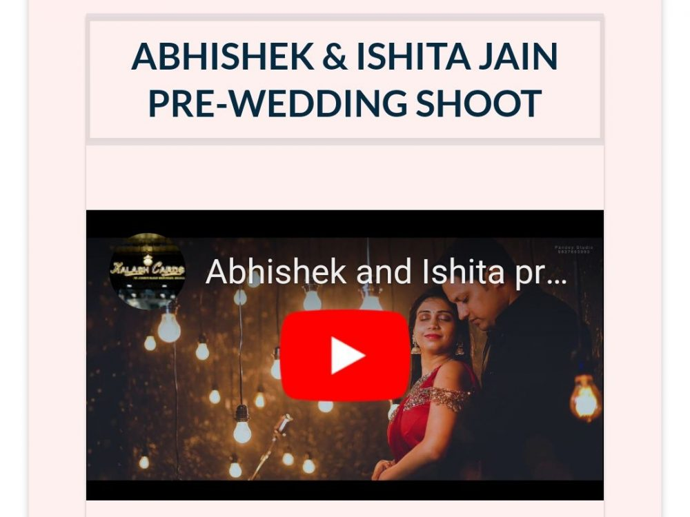 Abhishek and Ishita Wedding Website