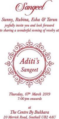 Aditi and Nilesh Hindu Wedding Invitation Wording