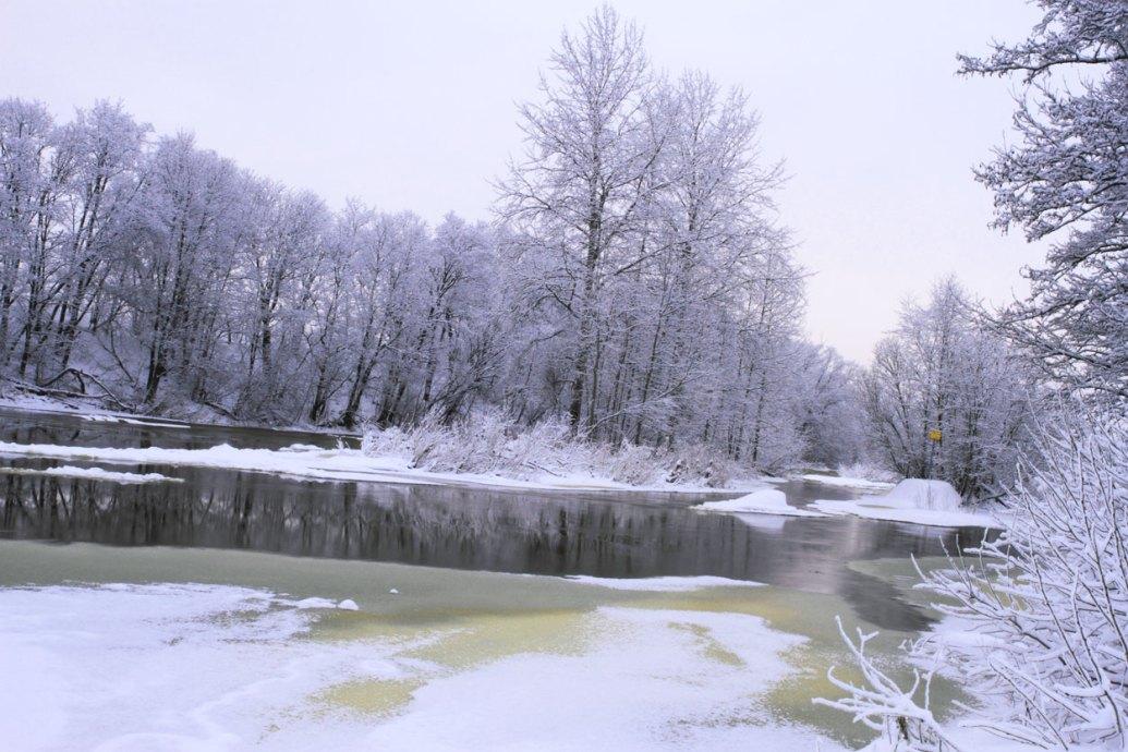 Ruutinkosken niska talvella