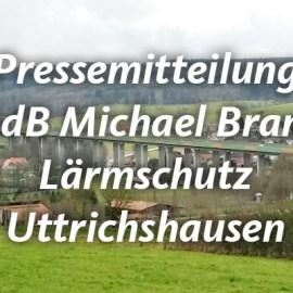 Uttrichshausen wird Modellprojekt des Bundes – 420.000 EURO für neuen Lärmschutz