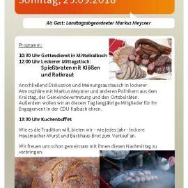 Traditionelles Schlachtfest in Mittelkalbach