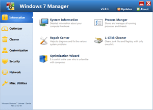 Снимка: Windows 7 Manager 5.2.0