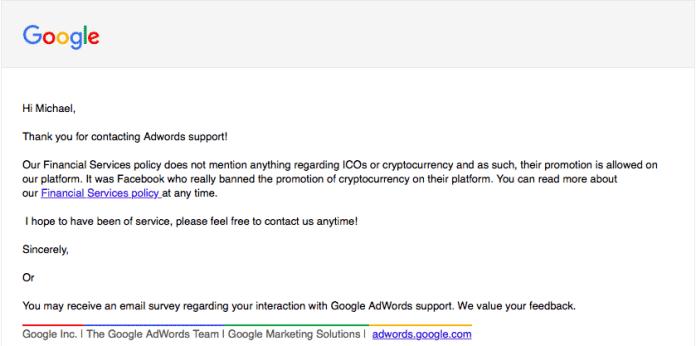 Finance Magnates: Google        ICO