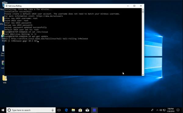 Microsoft Store    Kali Linux  Windows 10
