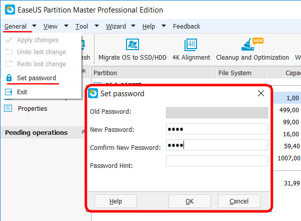 EaseUS Partition Master Free: -