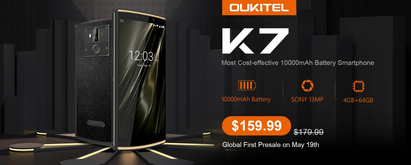 OUKITEL K7 е четвърто поколение смартфони на OUKITEL с мощни