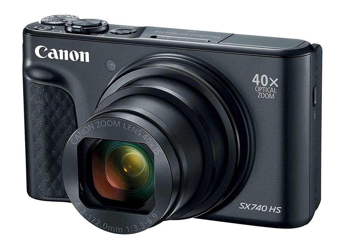 Цифровият фотоапарат Canon PowerShot SX740 HS разполага с 1/2,3-инчов (6,17