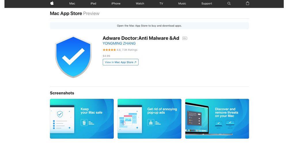Програмата Adware Doctor, която се счита за най-популярното приложение в